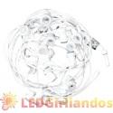 10 m ilgio keičiamų LED lempučių E-27 cokolio tipo girlianda ( kas 50 cm )