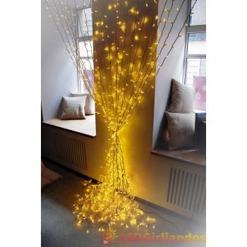 Vidaus LED šviesos užuolaida 200x300