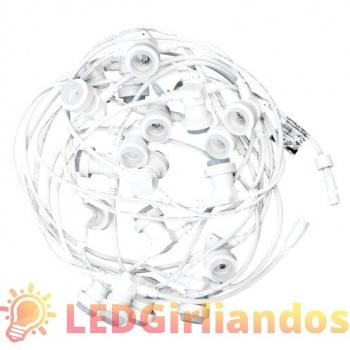 10 m ilgio keičiamų LED lempučių E-27 cokolio tipo girlianda ( kas 33 cm )