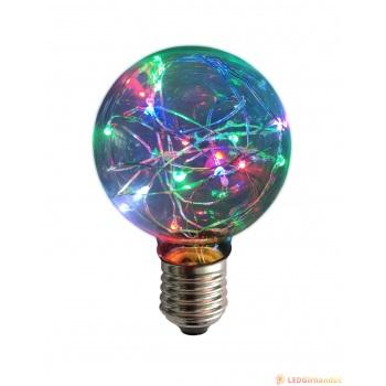 Dekoratyvinė skaidri E-27 cokolio LED lemputė