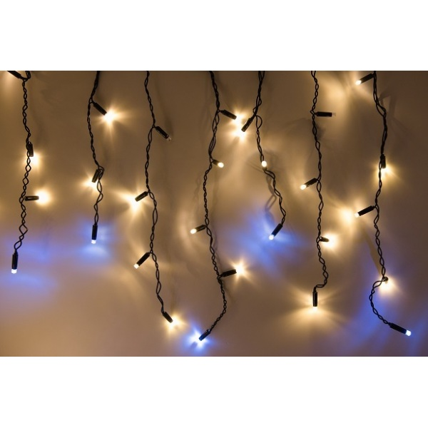 LED 180 lempučių girlianda tipo varvekliai 9 m su blykstė