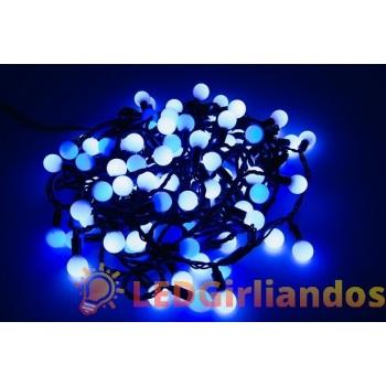 LED burbulų girlianda baltai/mėlyna