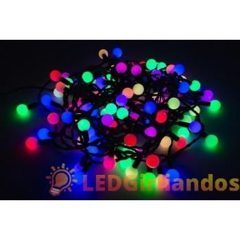 LED burbulų girlianda mėlynai/raudona ir žaliai/raudona
