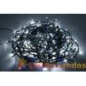 400 LED lempučių girlianda mėlyna ir balta/ mėlyna flash