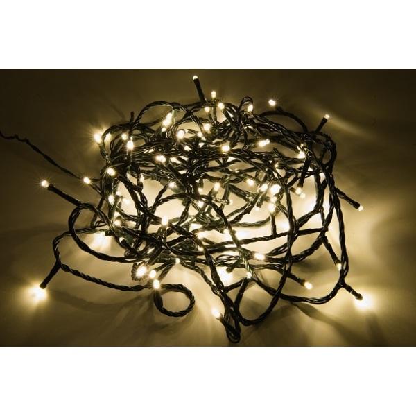 400 LED lempučių girlianda šiltai balta/ balta flash