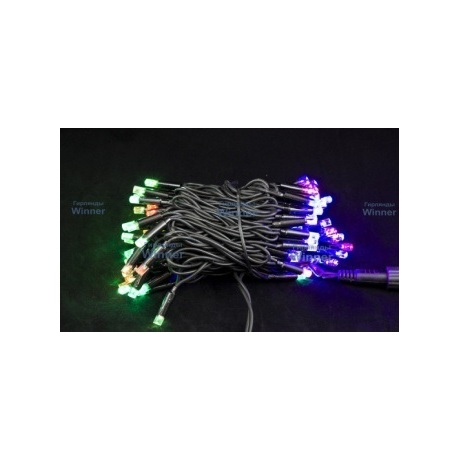 10 metrų 100 LED spalvota lempučių lauko girlianda RGB