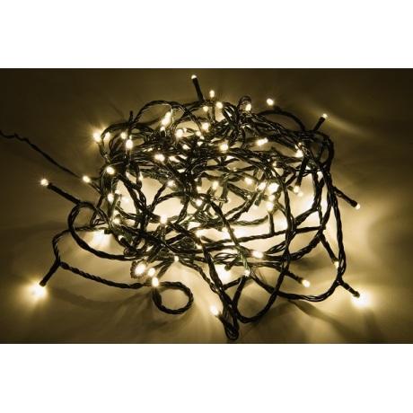 100 LED lempučių šiltai baltos spalvos girlianda ( 8 mirksėjimo variantai )