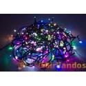 100 LED lempučių baltos, rausvos, žalios, šiltai baltos, mėlynos spalvų girlianda ( 8 mirksėjimo variantai )