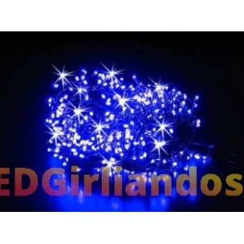 200 LED lempučių mėlynos spalvos girlianda ( 8 mirksėjimo variantai )