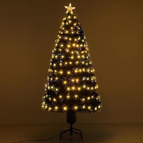 Dirbtinė eglutė su šiltai baltom lemputėm 180 cm