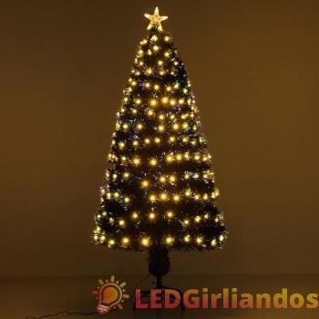 Dirbtinė eglutė su šiltai baltom lemputėm 210 cm