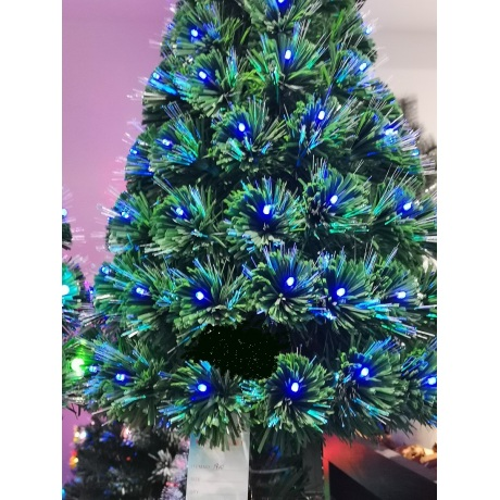 Dirbtinė eglutė 150 cm su RGB lemputėm raudona/mėlyna