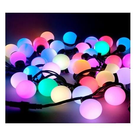 LED burbulų girlianda įvairių spalvų